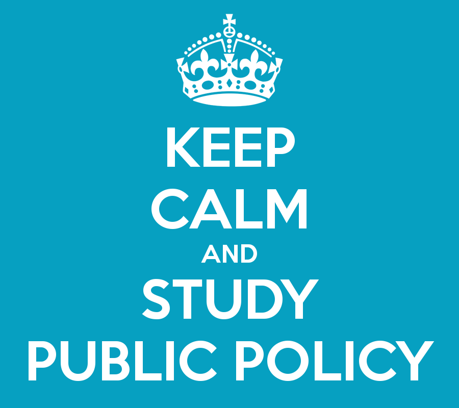Keep Calm and Study Public Policy with crown